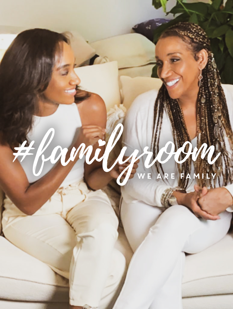 Kathy Sledge of Sister Sledge with daughter Kristen Sledge for their Family Room web series